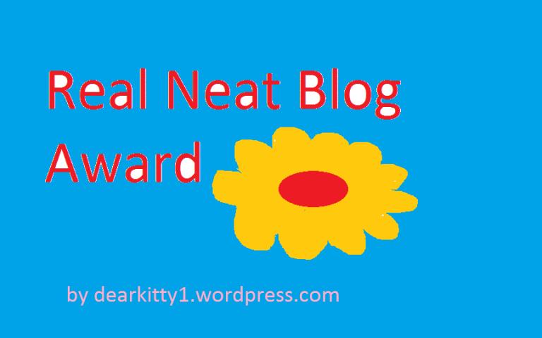 Real Neat BloggerAward