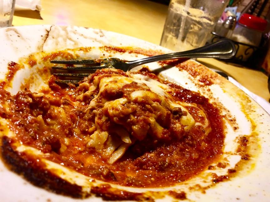 Try the fabulous lasagna at Italian House –Orlando