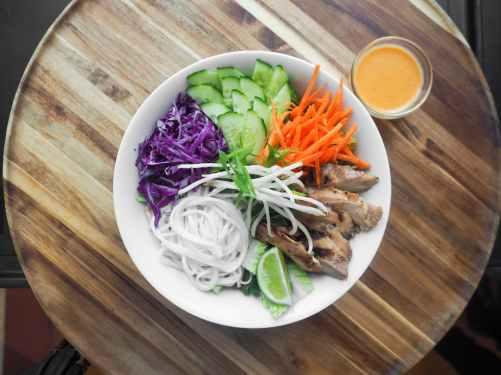 bowl of sliced vegetables