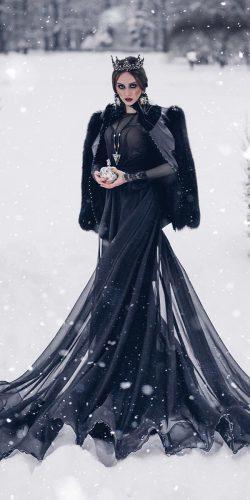 Black gothic-wedding-dresses-vintage