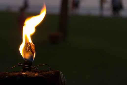 blaze blur bright burn