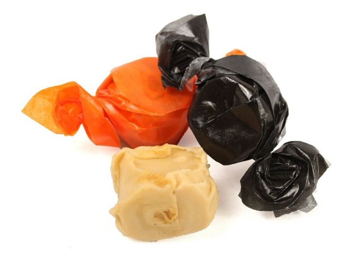 Image result for orange black wrapped halloween candy