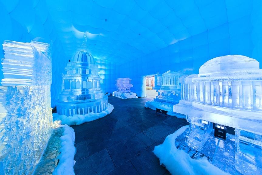 Magnificent ice sculptures