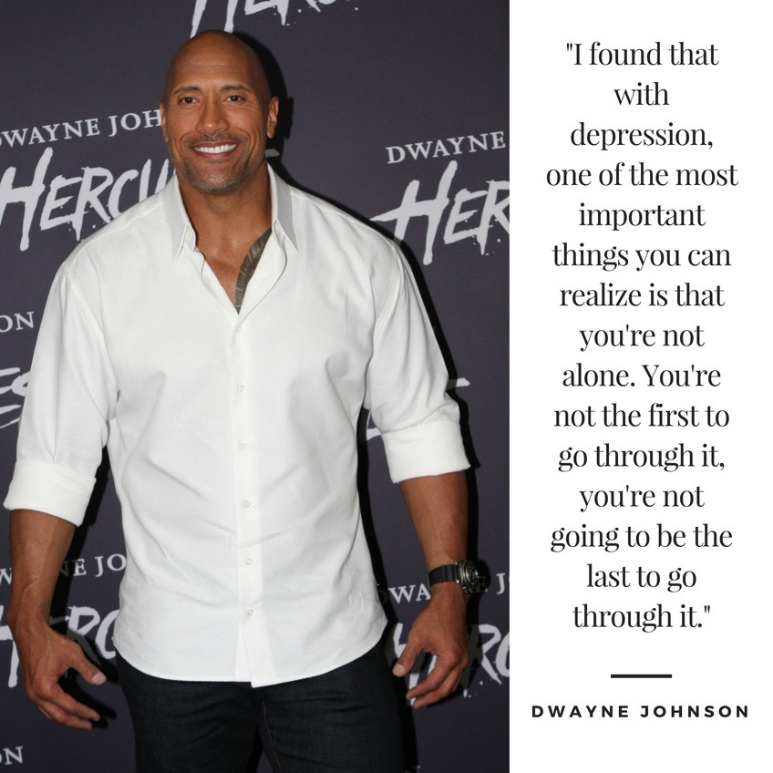 Even tough guys get the blues: Dwayne Johnson ondepression