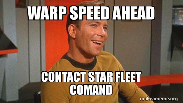 warp speed. The definition of warp/warped