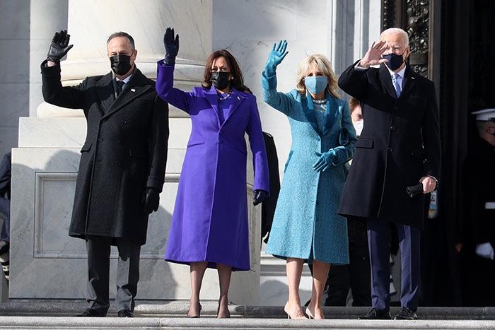 Doug Emhoff, Kamala Harris, Jill Biden, Joe Biden, inauguration day 2021