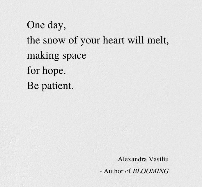 THE FLOWER OF HOPE by Alexandra Vasiliu make space for hope