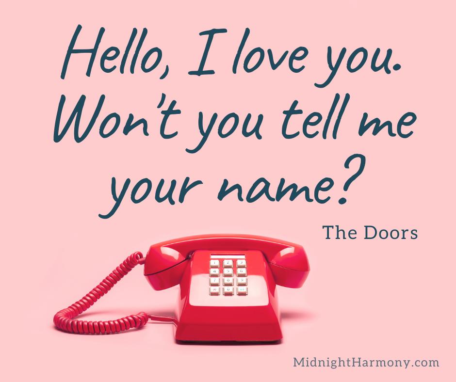 Hello I love you won't you tell me your name meme