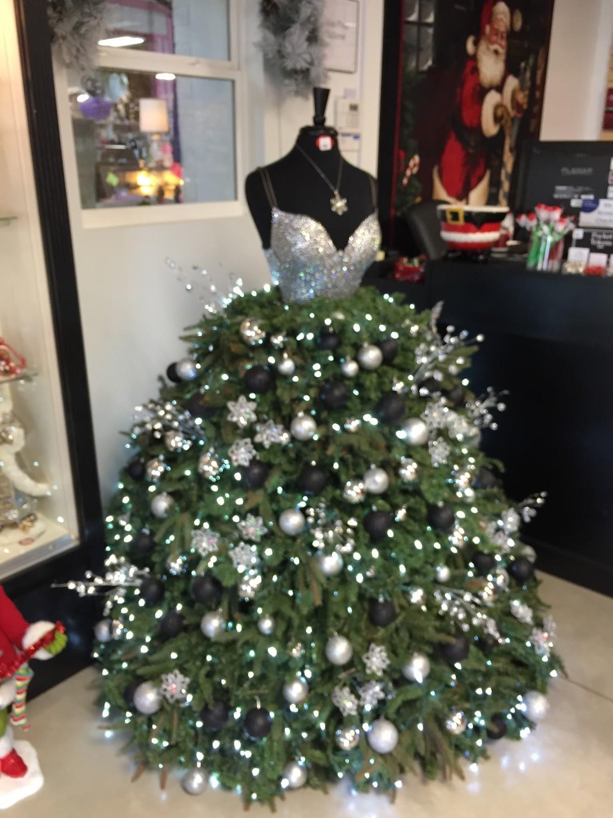 Silver and black Christmas tree dress