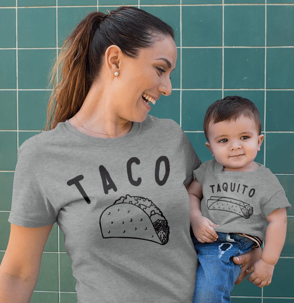 taco taquito matching set taco clothing