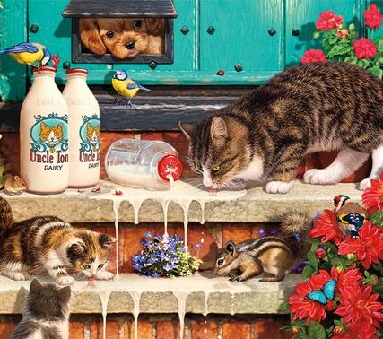 Doorstep-Raiders_CatsJigsawPuzzle